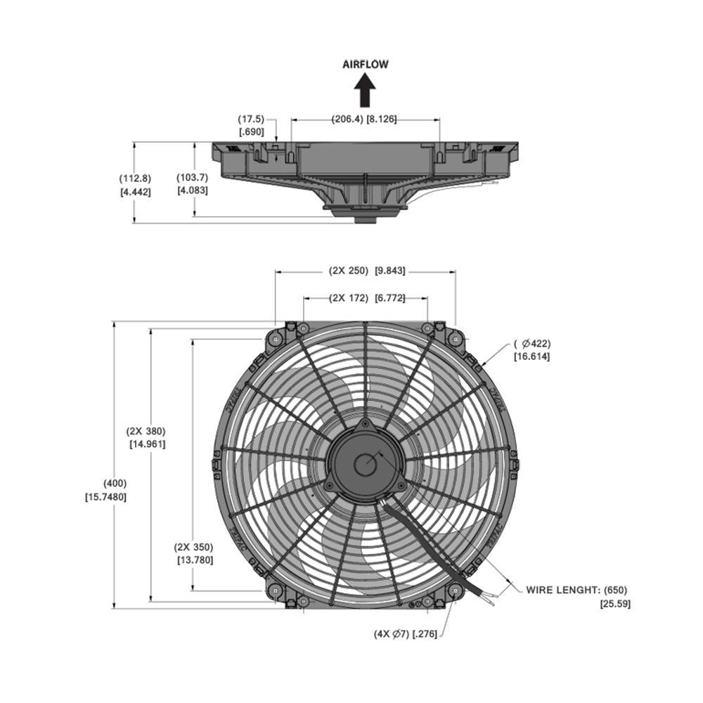 Schema Elettrico Ventola Radiatore : Tripac elettrico ventola di raffreddamento da pollici